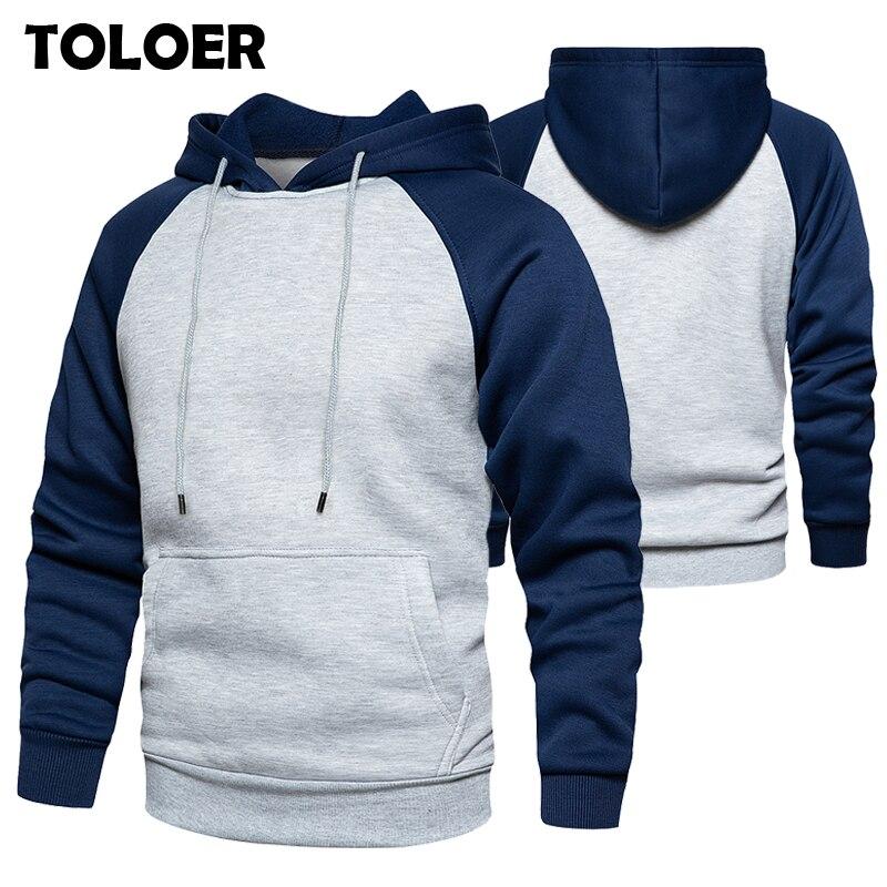 Brand Streetwear Patchwork Hoodie Men Hip Hop Hooded Solid Slim Fit Casual Hoody Mens Hoodies Sweatshirts Autumn Winter Pullover