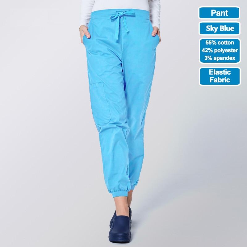 Image 3 - ANNO Work Trouser Doctor Nurse Uniform Bottoms Elastic Cuffs Dental Medical Clothing Scrub Nursing Pants for Women MenScrub Tops & Bottoms   -