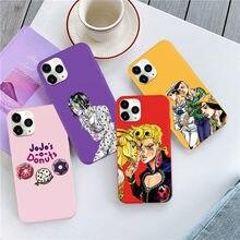 Cartoon Anime JoJos Bizarre Abenteuer Telefon Fall für IPhones 7 8 Plus Silikon Abdeckung für IPhone 11 Pro Max 6S X XR XS Max SE2
