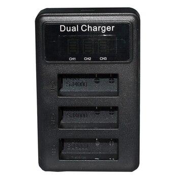 3 weg Lcd Batterie Ladegerät Für Sjcam Sj4000 Sj5000 Sj6000 Sj7000 Sport Kamera Batterie