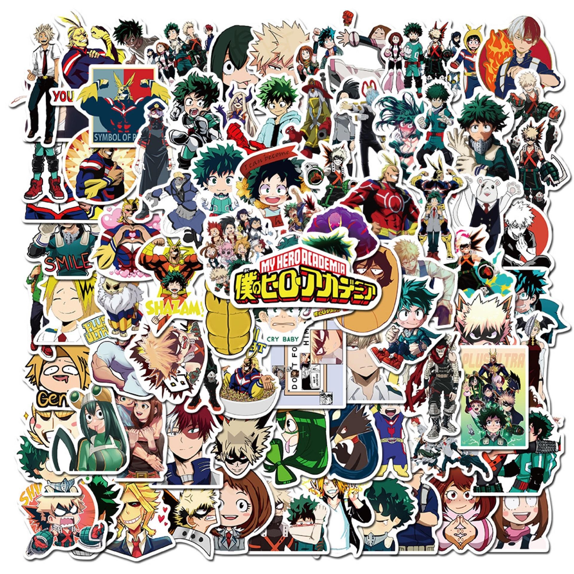 10/50/100pcs My Hero Academia Stickers Laptop Skateboard Izuku Midoriya Might Boku No Hero Academia Anime Character Sticker
