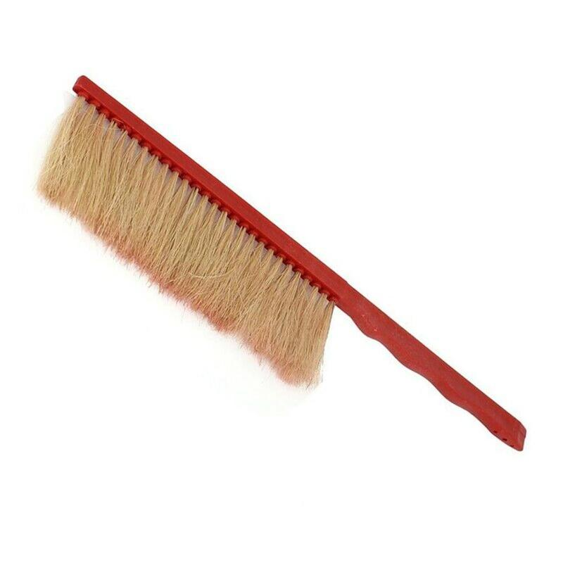 Beekeeping Tools Red Plastic Sweep Bee Quality Plastic Brush Horse-Hair Bee Flicking Horsetail Bee Single Row Bee Brush