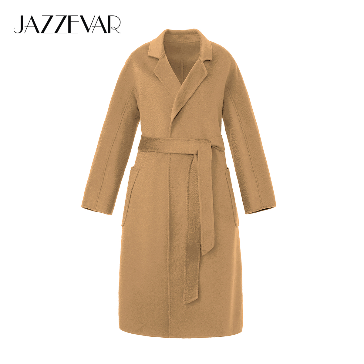 JAZZEVAR Women Classic Winter Double faced Cashmere Coat Female Plus size Outerwear For Lady Wavy 100 Wool Coats Loose Clothing|Wool & Blends| - AliExpress