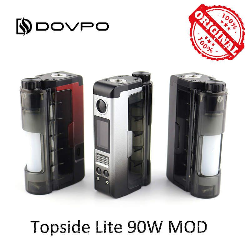 Original DOVPO Topside Lite 90W Mod Powered By Single 21700/20700 Battery Electronic Cigarette 510 Thread Atomizer Vape Box Mod