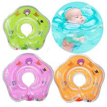 Для детской ванны плавание шейный поплавок надувной круг регулируемые