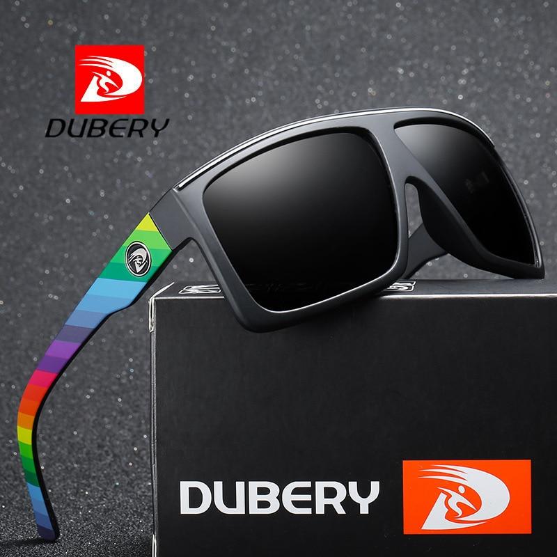 Мужские солнцезащитные очки DUBERY, поляризованные затемненные очки для вождения, недорогие брендовые дизайнерские очки в стиле ретро