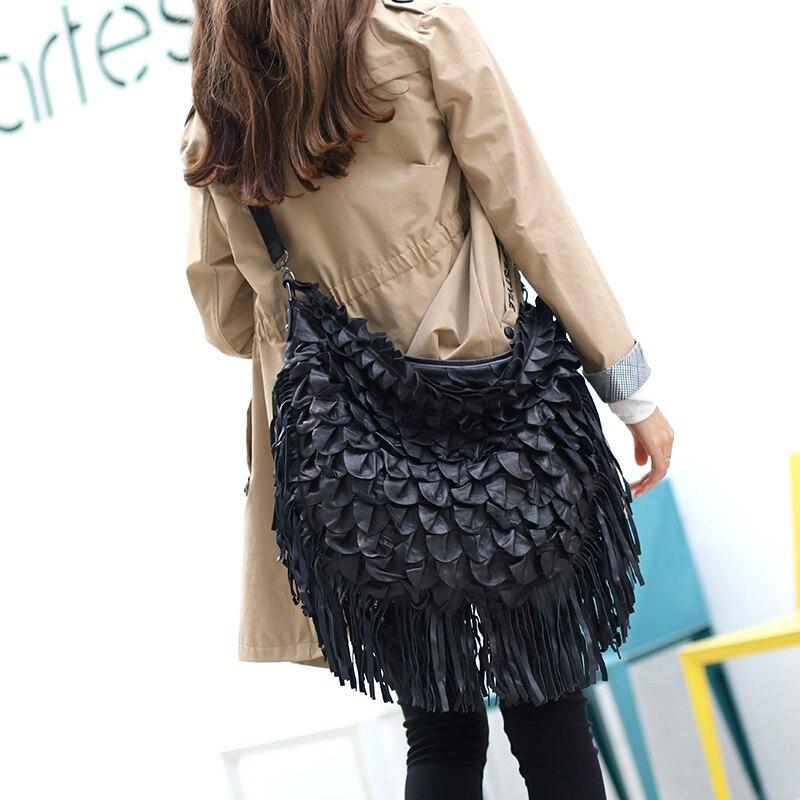 2020 New Wave Leather Stitching Women Handbag Slung Dual-Use Big Bag Female Shoulder Bag Ladies Bags Sheepskin Leather Fashion