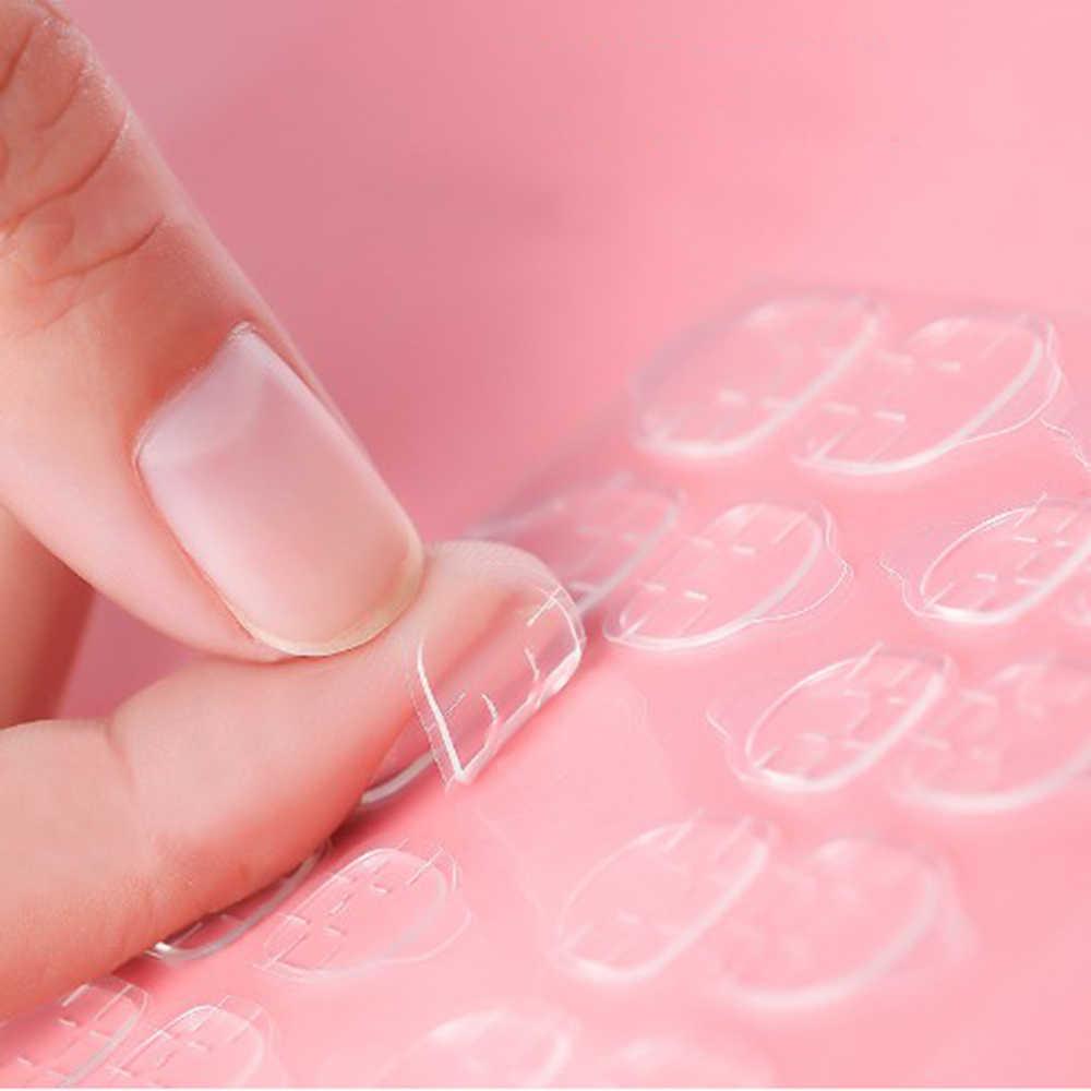 24 ชิ้น/เซ็ตเล็บปลอมเล็บปลอม DOUBLE SIDE Adhesive กาวเทปกาวสติกเกอร์สำหรับเล็บปลอม Art ตกแต่งเครื่องมือ