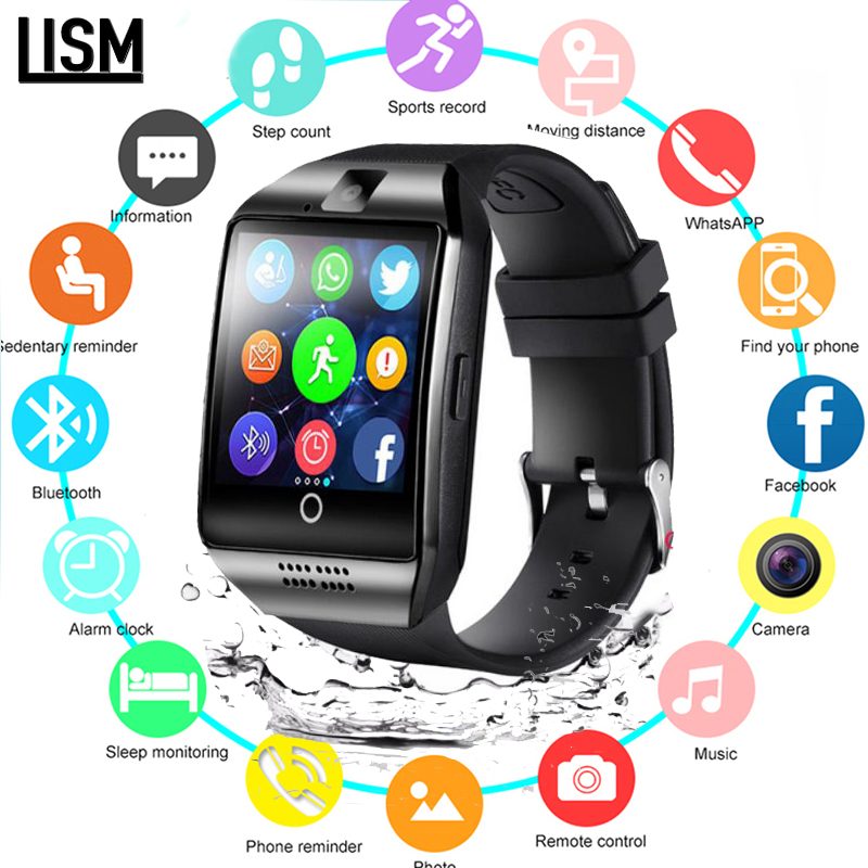 Bluetooth Smart Watch Men Q18 With Touch Screen Big Battery Support TF Sim Card Camera for Android Phone Smartwatch D13 PK Y1 X6 xanes a6s