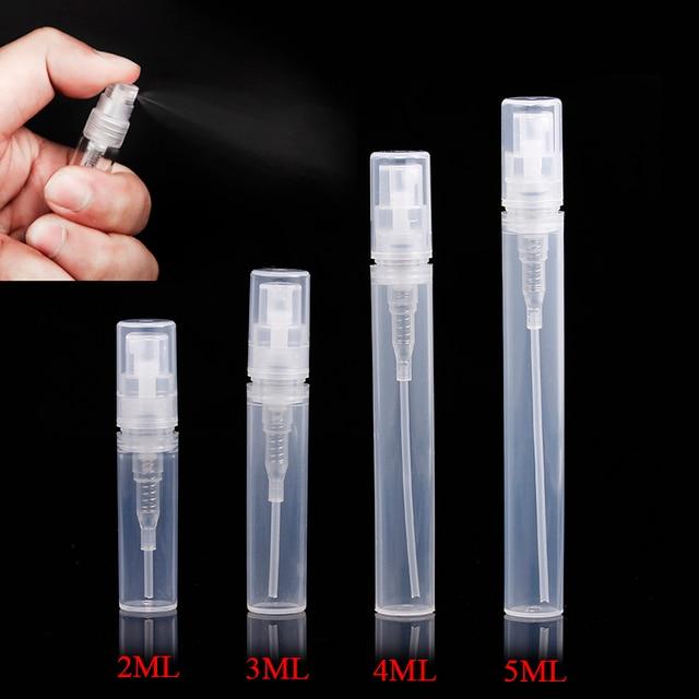 ( 7pcs/lot) Empty 2ml 3ML 4ML 5ML mini Protable plastic spray perfume bottle, small Refillable sample perfume atomizer bottles