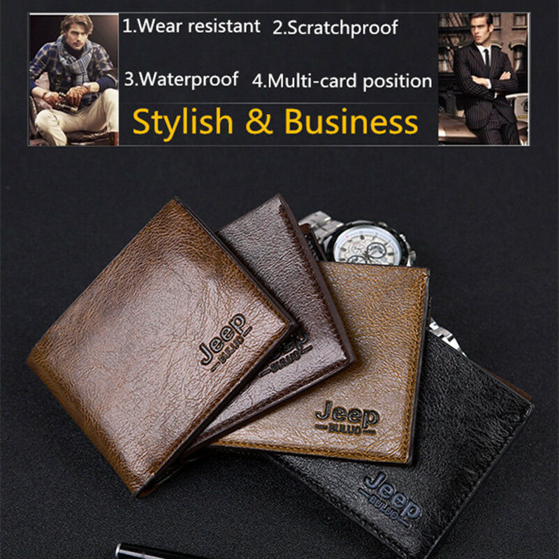 Limit 100 Men Wallet Purse Leather Thin Bifold Credit ID Card Holder Slim Wallet Billfold Purse Clutch