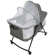 1set Baby Cradle Crib Breathable Portable Sleeping Baby Bed Crib Multi-Function Travel Crib With Mosquito Net Cradle Bed HWC