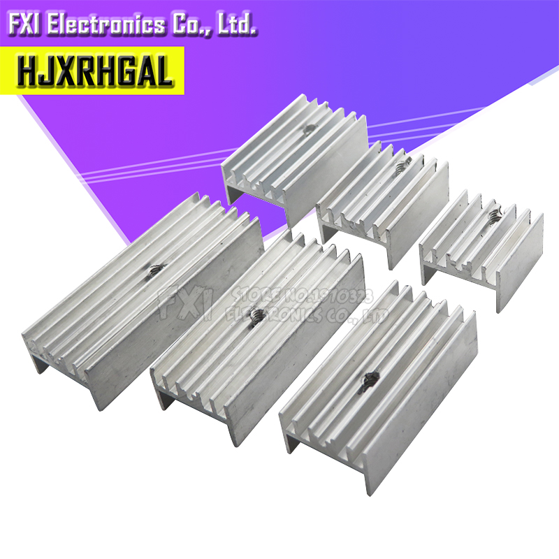 10Pcs 15*10*16/20/22/25/30/35/40/50 Transistor Aluminum Heatsink Radiator With hjxrhgal For Transistors TO-220 TO220 white