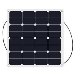 Portable High Efficiency 50W 18V sunpower Laminated Semi Flexible Solar Panel 12v solar charger waterproof 2pcs