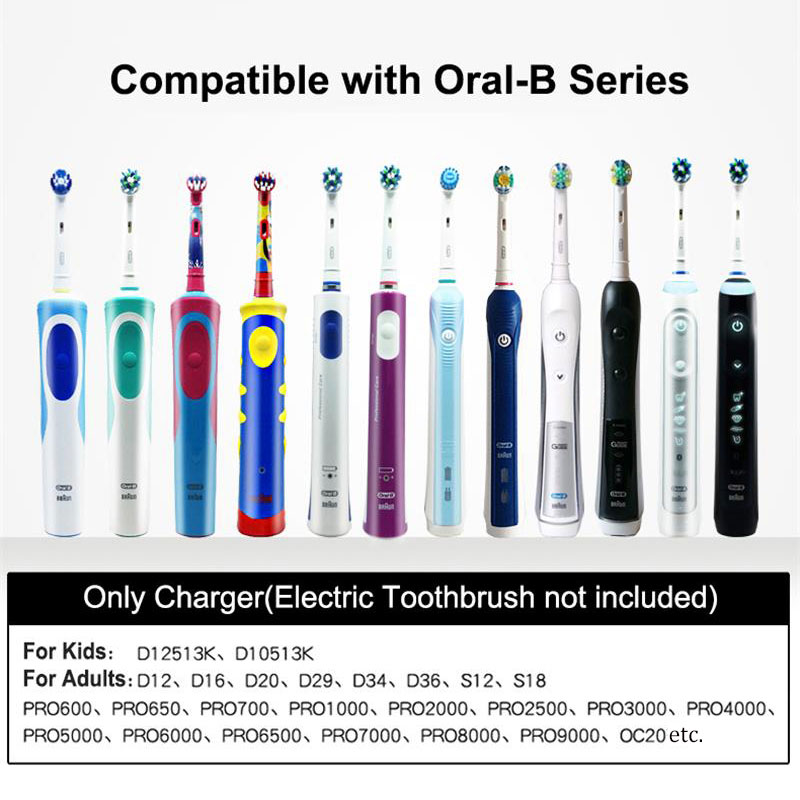 Electric Toothbrush Charger for Oral B Electric Tooth brush Inductive Charging Base EU Plug Replacement Charger 100-240v