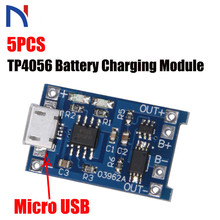 5Pcs TP4056 5V 1A Micro Usb 18650 Batteria Al Litio di Carico Del Caricatore Consiglio Modulo di Protezione per Arduino Kit Fai da Te trasporto Libero
