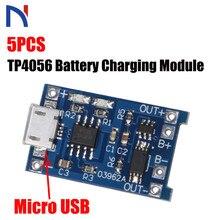 5Pcs TP4056 5V 1A Micro Usb 18650 Lithium Batterij Opladen Board Charger Module Bescherming Voor Arduino Diy Kit gratis Verzending