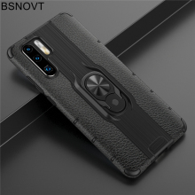 For Huawei P30 Pro Case TPU+PC Phone Finger Holder Hard Back Cover Funda 6.47 BSNOVT