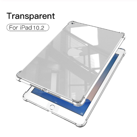 For iPad 7th 8th Red Silicon Case For iPad 10 2 2019 2020 Clear Transparent Soft TPU Back Cover Tablet Case