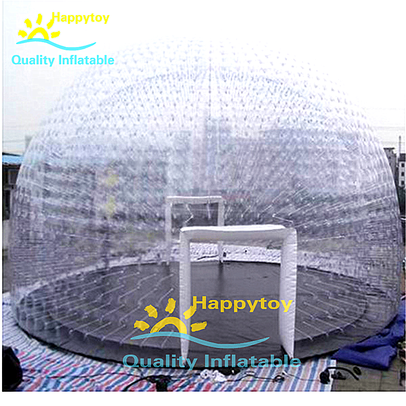 Waterproof Outdoor Camping Leisure Inflatable Clear Dome Tents Inflatable Igloo Tent