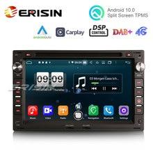 "Erisin ES8709V 7 ""CarPlay Atuo 안 드 로이드 10.0 자동차 DVD GPS 4G DAB + DSP 폭스 바겐 골프 Passat 폴로 Lupo 좌석 푸조 307"