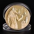 Позолоченный Набор памятных монет, 1 шт., египетская защита смерти, монеты, копия монет, Египетский бог смерти, подарок