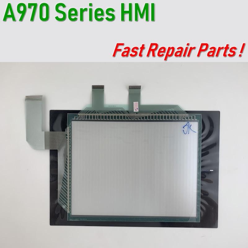 A970GOT-TBA-CH,A970GOT-TBA-B,A970GOT-SBA Touch Screen Glass+Membrane film for HMI Panel repair~do it yourself, Have in stock