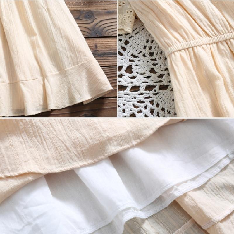 Kawaii Summer Cotton V Neck Dress 15