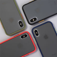 Защитный противоударный чехол для телефона iphone XR XS Max X XS 7 8 11 6 6S Plus Прозрачный матовый жесткий чехол для телефона защитный чехол