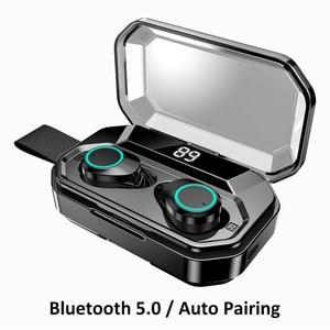 Image 4 - עדכון חדש G02 TWS 5.0 Bluetooth 9D סטריאו אוזניות אלחוטי אוזניות IPX7 עמיד למים אוזניות 3300mAh LED חכם כוח בנק