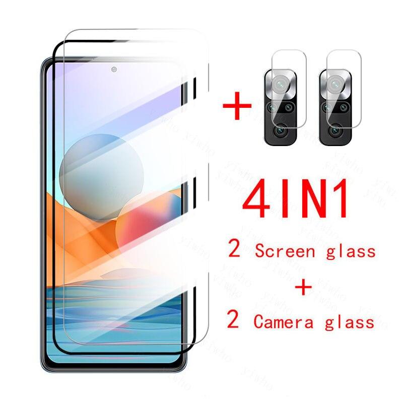 Protetor de vidro em redmi nota 10 pro lente da câmera vidro temperado para xiaomi nota 10 s 10pro pro max note10 protetor de tela
