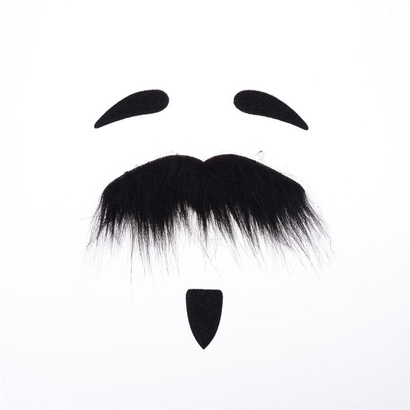 Self-adhesive Fake Mustache Set Halloween Cosplay Props Fancy Dress Cute Decor