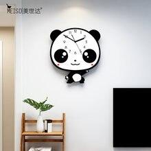 Большие милые Креативные настенные часы с аниме милой пандой