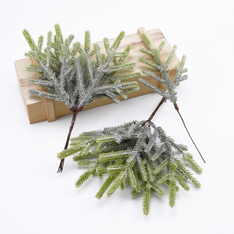 6 Pieces Artificial Plants Decorative Flowers Wreaths Vases For Home Wedding Decoration Christmas Tree Diy Gifts Box Scrapbook
