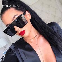 Oversize Square Sunglasses Women 2019 Luxury Brand Flat