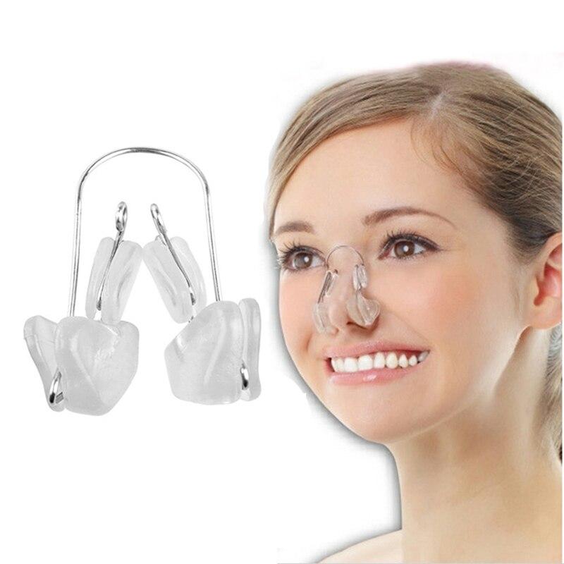 1 ud. Pinza reductora de silicona suave para la nariz, pinza reductora para la nariz, Corrector Alar para enderezar la nariz, herramienta masajeadora para moldear la cara