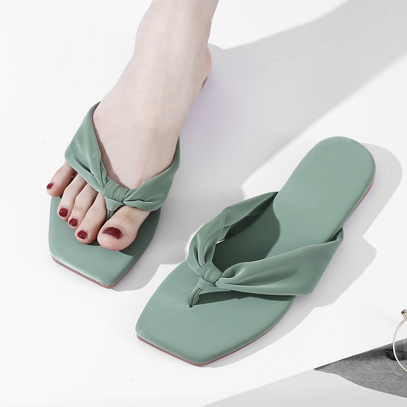 Summer Women's Clip Toe Slippers Ladies Cotton Fabric Indoor Home Casual Flip Flop Woman Fashion Female Non Slip Shoes Comfort