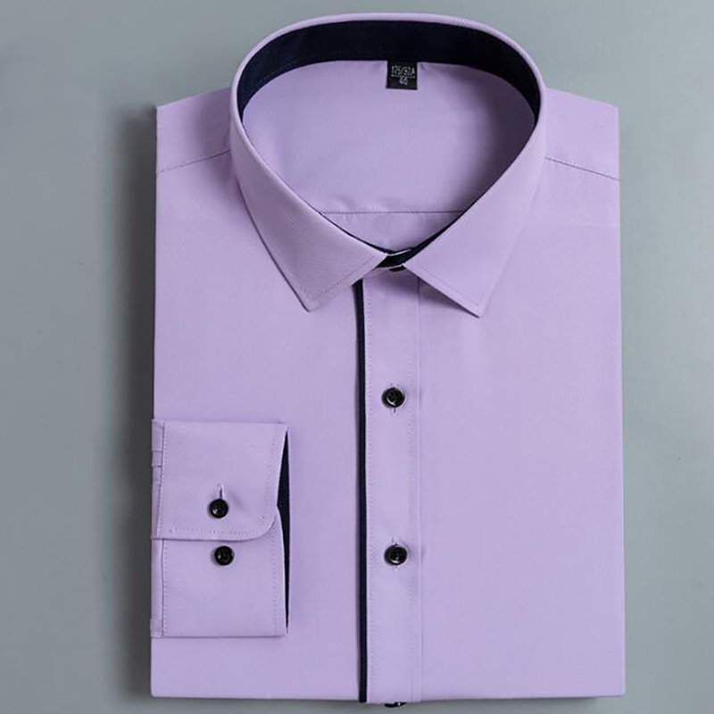 Men's Dress Shirt Slim Fit Solid 1