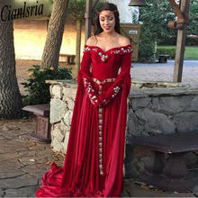 Бархат karakou алжирский вечерние платья с аппликациями кружевное