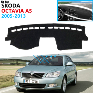 Dashboard Cover Protective Pad for Skoda Octavia 2 A5 MK2 1Z 2005~2013 Car Accessories Dash Board Sunshade Anti-UV Carpet 2012(China)