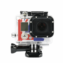 цена на Ruigpro for Go pro Accessories For Gopro Waterproof Housing Case Mount Hero 3  for Gopro Hero3+ 3 4 Balck silver Camera Mounting