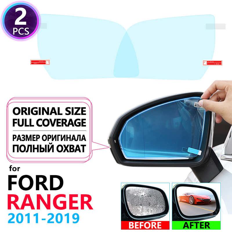 Full Cover Anti Fog Rainproof Film Rearview Mirror for <font><b>Ford</b></font> Ranger T6 2011~2019 Car Accessories <font><b>Raptor</b></font> 2012 2014 2016 2017 2018 image