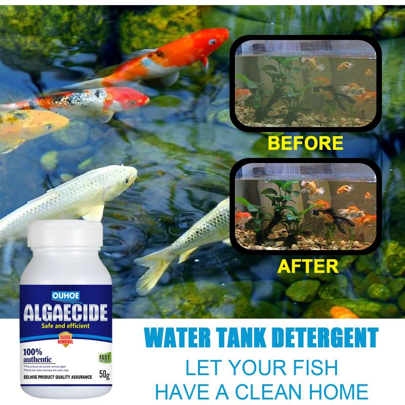 Hot 50g High Efficiency Algaecide Algae Moss Reduce Control Water Purification Safe Efficient Algaecide For Aquarium Pond