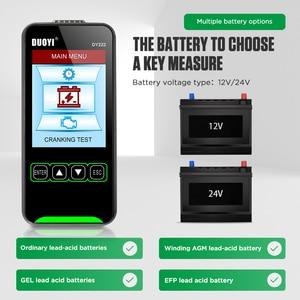 "Image 5 - Car Battery Tester 12V 24V Battery Tester Analyzer Battery Capacity Cranking Charging Test Tool 3.2"" LCD Screen Data Playback"