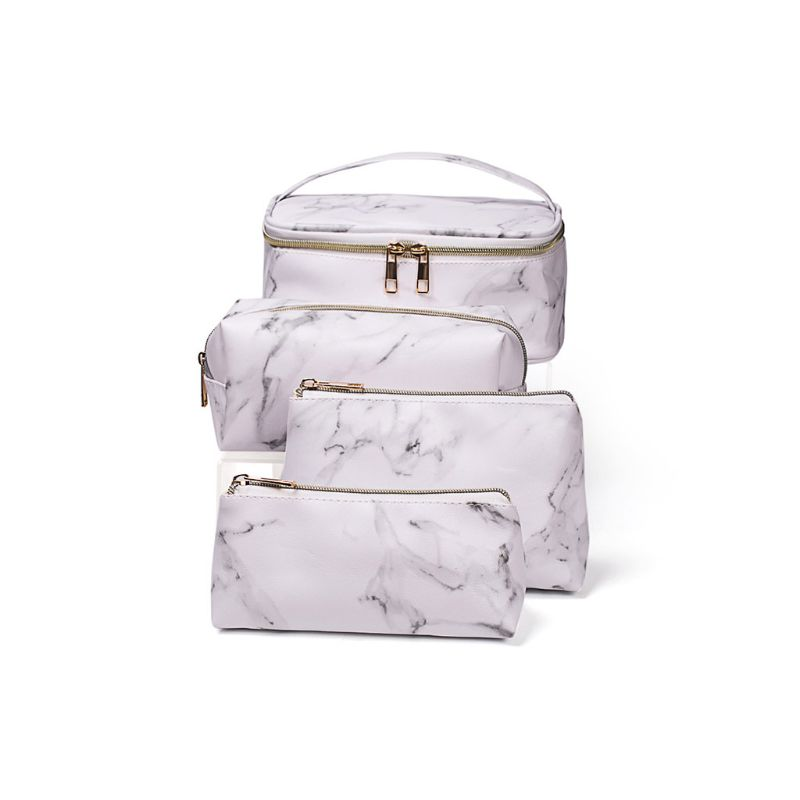Multifunctional Marble Cosmetic Bag Makeup Pouch Toiletry Travel Case Organizer A69C
