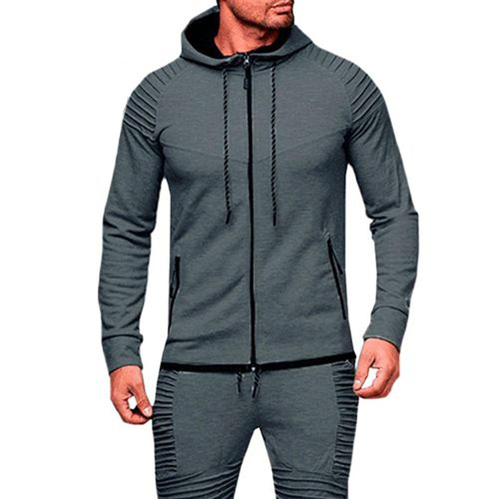 Men Sports Casual Hoodies Wear Zipper Fashion Tide Jacquard Hoodies Fleece Jacket Fall Sweatshirts Autumn Winter Coat толстовки