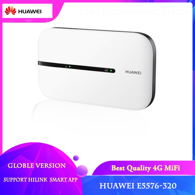 Unlocked HUAWEI E5576-320 Cat4 150Mbps Pocket 4G Wi Fi Router Support HiLink And Smart APP