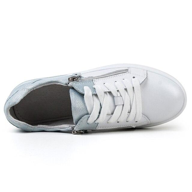 STQ 2020 جديد المرأة أحذية حقيقية أحذية رياضية من الجلد 3