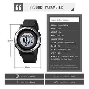 Image 3 - Skmei relógio digital à prova dled água led esporte militar dos homens relógios topo de luxo marca moda relógio de pulso masculino relogio masculino