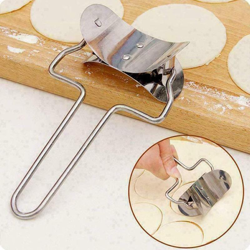 Edelstahl Teig Presser Cutter Dumpling Pie Mould Maker Gebäck Werkzeug Form Wrapper Presser Formen Kochen Pastry Cutter